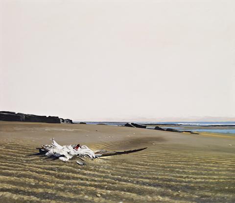 Verkið Á sandinum, 1981 eftir Eirík Smith