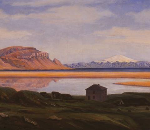 Mynd af verkinu Saurbær á Rauðasandi eftir Þórarinn B. Þorláksson